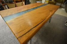 Handmade Live Edge Cherry River Table With Hairpin Legs