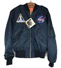 Alpha Industries Men's NASA Bomber Reversible Zip Up Jacket Size XXL