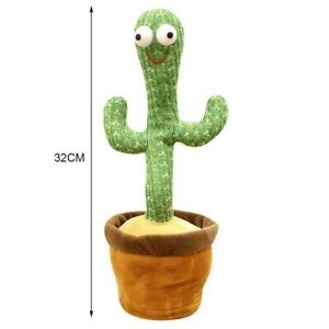Dancing Cactus Plush Toy Electronic Shake with song XC Dance Succulent cute V6I9
