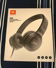 JBL E35 On-Ear Headphones with Pure Bass and mic  wired Black brand New In Box.