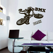Wall Decal BMX Rider Sticker Bike Bicycle Trial Racing Cycle Jump Teen M1647