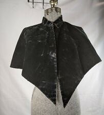 Antique Vintage Shoulder Cloak Black Velvet
