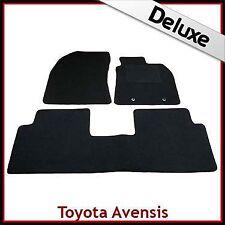 Toyota Avensis Mk3 Estate 2009-2018 Tailored LUXURY 1300g Carpet Mats BLACK