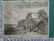 1751 datato antico Stampa-la sabbia Hill-D Teniers