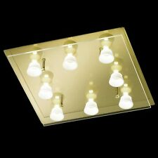 Honsel lámpara LED de techo Lennox 8-flg vidrio bronce dormir Salón ESS