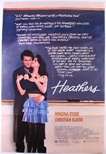 HEATHERS (1989) ORIGINAL MOVIE POSTER  -  FOLDED