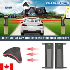 Driveway Alarm Motion Sensor Infrared System Wireless Solar Security Outdoor