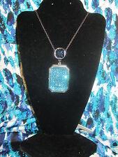DANA BUCHMAN NWT $26 aqua blue long necklace women's jewelry disco