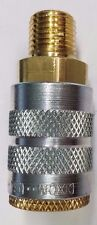 New Dixon, 5CGR3 Coupler, Brass, 1/4 MNPT, 1/4 Body Quick Connect Air Coupling