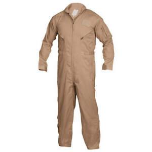 """TRU-SPEC 2662 Flight Suit,L,34"""" Inseam,Khaki"""