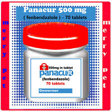 DEWORM PANACU® PANACUR 70 - 140 TABLETS / 500 mg TABLETS DOG CAT ANIMALS