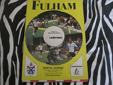 football programme - fulham v bristol rovers - sat 17th march 1990