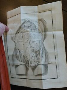 * Rare 1787 Antique Medical Surgical Book illustrated Fold-Out Copper Plates!