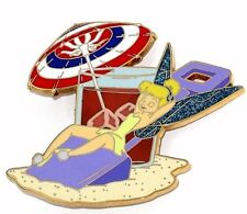 Le 100 Disney Auctions Pin✿ Tink Tinker Bell Beach Summer Memorial Day Lemonade