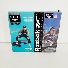Set of 2 Reebok Step Fitness Video Series VHS 1992 Gin Miller Sealed Exercise