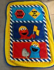 Elmo Blue Baby Blanket Sesame Street Construction Cookie monster