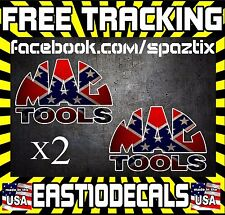 (2) MAC TOOLS SOUTHERN Logo Decal Sticker Wrench Tool Box