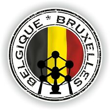 Joint Autocollant de Belgique Belgique Bruxelles TIMBRE pare-chocs Cocarde Camion Ordinateur Portable Voiture