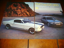 1984 FORD MUSTANG SVO vs. 1966 SHELBY GT350  ***ORIGINAL ARTICLE***