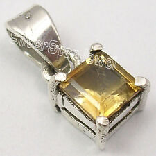 925 Sterling Silver Wonderful YELLOW CITRINE TRADITIONAL LOVELY Pendant 0.6""