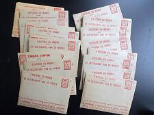 Lot de 22 enveloppes à images Histoire du Monde Timbres Tintin