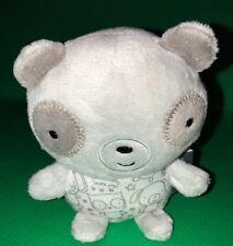 "HALLMARK Gray Panda Soft Plush RATTLE  Baby Infant Toy Mini 4"" 2015"