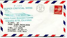 1975 F 111 Super Critical Wing Flight 67 Research Center Edwards Enevoldson NASA