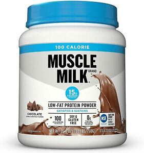 Muscle Milk 100 Calorie Low Fat Protein Powder 25 Servings Chocolate Exp.1/2021