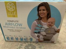 Lillebaby Complete Airflow 6-In-1 Baby Carrier, Grey/Silver 3D Mesh -New
