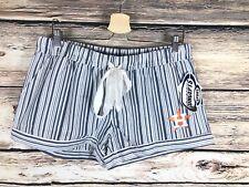 Houston Astros Women's Shorts Size Large Blue White Striped Logo NWT