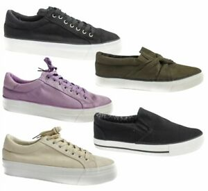 SIMPLY BE LADIES X WIDE FIT LACE UP FLAT PUMPS CANVAS TRAINERS SIZE 4 5 6 7 8 9