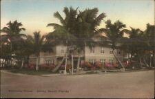 Delray Beach FL Kentucky House Hand Colored Postcard