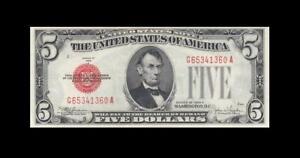1928-E UNITED STATES NOTE FIVE DOLLARS $5 **RARE** (( GEM UNC ))