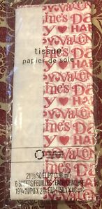 Hallmark Happy Valentines Day Red/White Heart Tissue Paper/Gift Bag Filler