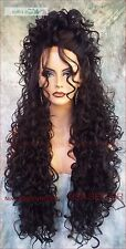 """LAC26"""" X-LONG LACE FRONT DEEP C-PART HIGH HEAT SAFE WIG COLOR #1B  SEXY 131 NEW"""