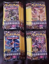 LOT OF (40) PACKS ☆ POKEMON SUN&MOON ☆ FORBIDDEN LIGHT ☆3 Card  Booster Packs -
