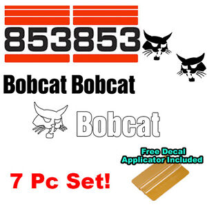 Bobcat 853 Skid Steer Set Vinyl Decal Bob Cat Sticker Set v1-o MADE IN USA