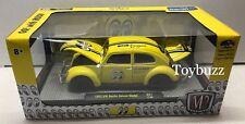 M2 MACHINES 1:24 VOLKSWAGEN VW BEETLE MOONEYES WALMART EXCLUSIVE YELLOW 40300