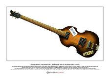 Paul McCartney's '63 Beatle Bass & Bassman Ltd Edition Fine Art Print A3 size