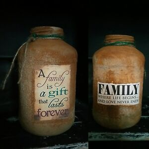 Mason Jar - Family is a gift that last forever
