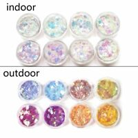 8Pcs UV Color Change Mica Powder Sunlight Reactive Glitter Resin Jewelry Making