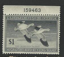 Bigjake: RW14, $1.00 Snow Geese, Plate # - VLH