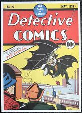 THE BATMAN REPRO POSTER DETECTIVE COMICS #27 BOB KANE 1939 COVER . DC COMICS D4