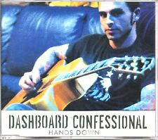 DASHBOARD CONFESSIONAL - HANDS DOWN - ENHANCED CD SINGLE - MINT