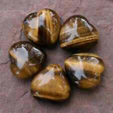 """TIGER EYE ONE Heart Small 12-15 grams 1.0-1.25"""" w/ Healing Property Card"""