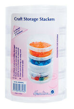 Large Craft Storage Stackers Pack of 4 Stackers. Store  Beads, Sequins, Jewelery