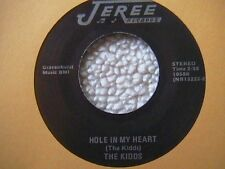"""THE KIDDS """"HOLE IN MY HEART"""" '7"""" 45 PRIVATE PITTSBURGH AREA HEAVY METAL 198?"""