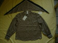 NWT H&M Exclusive Collection Richard Allen British Blouse Shirt Top & Scarf 4