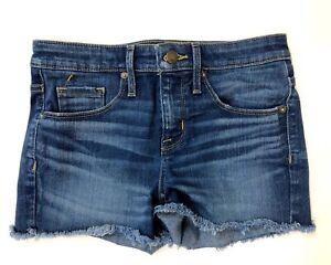 Mossimo Supply Co Womens Jean Shorts 0/25 High Rise Medium Wash Denim Cutoffs
