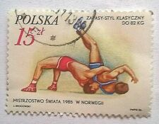 Poland stamps - Wrestling World Cup Norway 5 zloty 1985  - FREE P & P